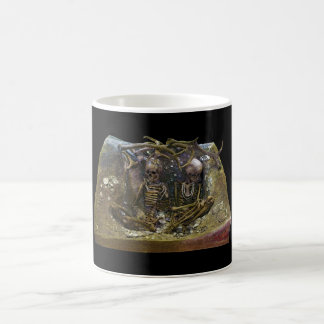 Two Female Skeletons at the Tomb of Teviec Classic White Coffee Mug