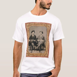 Two fiddlers, seated with instruments (40050) T-Shirt