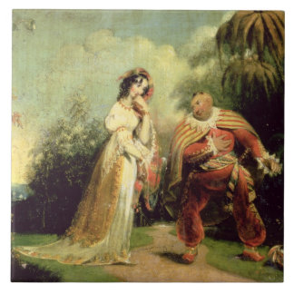 Two figures in Turkish costume in an Eastern lands Tile