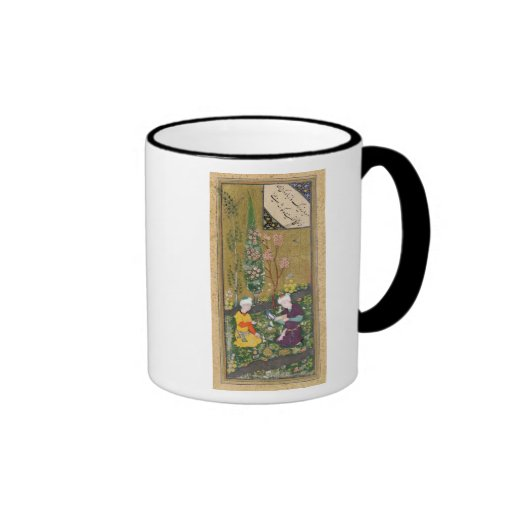Two Figures Reading and Relaxing in an Orchard Coffee Mug
