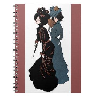 Two Fine Victorian Ladies Notebook