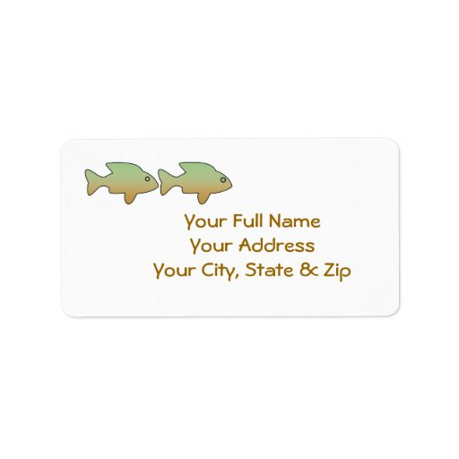 Two Fish in a Row, address labels