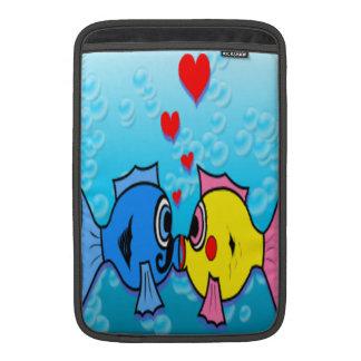 Two Fish Kissing Underwater Scene MacBook Air Sleeve