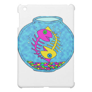 two fish living in a fish bowl year after year iPad mini cover