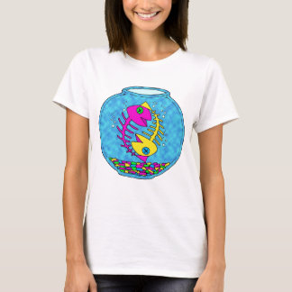 two fish living in a fish bowl year after year. T-Shirt
