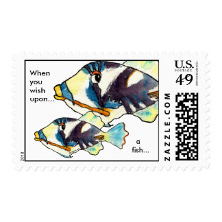 Two Fish Personalized Postage Stamps