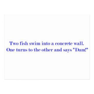two fish postcard