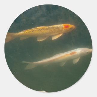 Two Fish Round Sticker