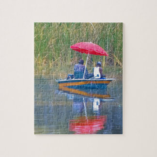 Two Fishermen at the Lake Jigsaw Puzzle