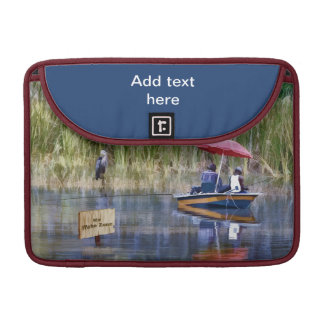 Two Fishermen at the Lake Sleeve For MacBooks