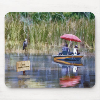 Two Fishermen at the Lake Mouse Pad