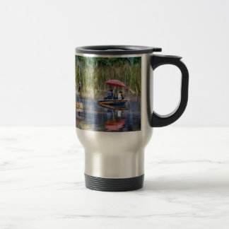 Two Fishermen at the Lake Travel Mug
