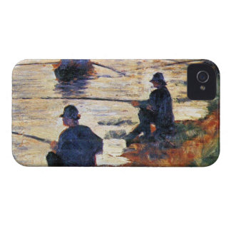 Two Fishermen by Georges Seurat iPhone 4 Case-Mate Cases