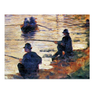 Two Fishermen by Georges Seurat Postcard