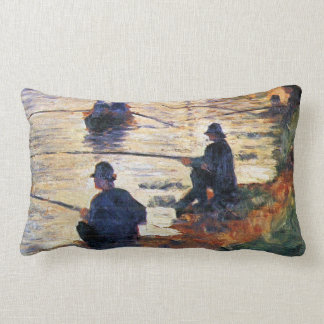 Two Fishermen by Georges Seurat Throw Pillow