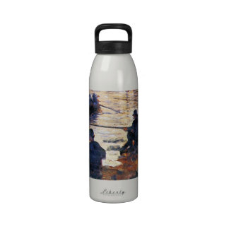 Two Fishermen by Georges Seurat Reusable Water Bottle
