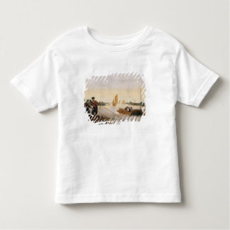 Two Fishermen Pulling in their Nets Toddler T-shirt