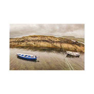"Beach Themed ""Two fishing boats, Ireland"" wall art"