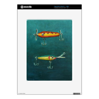 Two Fishing Lures iPad Decal
