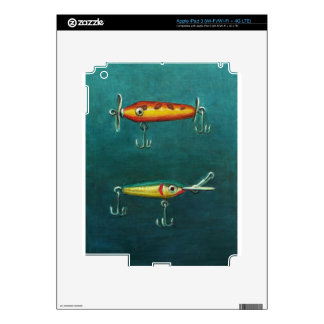 Two Fishing Lures Skin For iPad 3