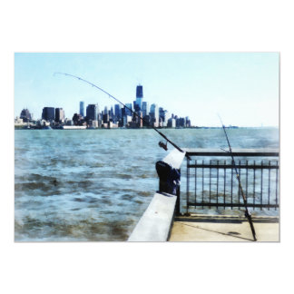 Two Fishing Poles Card