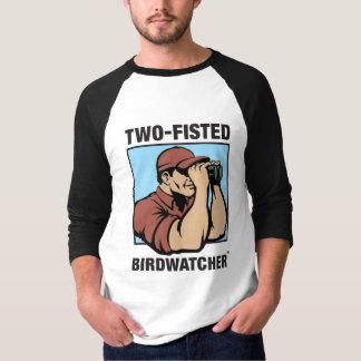 Two-Fisted Birdwatcher 3/4 Sleeve Raglan T-Shirt