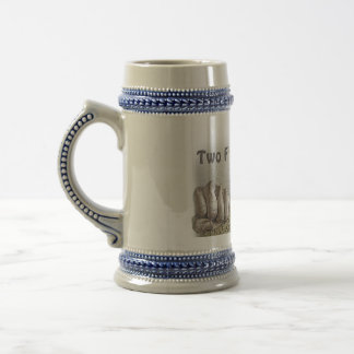 Two Fisted Drinker Logo Beer Stien Beer Stein