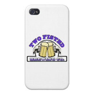 Two Fisted in blue iPhone 4 Case