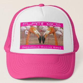 Two Flamingo Heads - (Hat) Trucker Hat