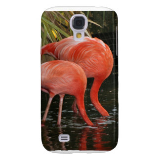 Two flamingoes with heads in the water samsung galaxy s4 cases