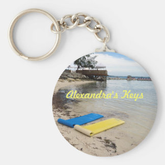 Two Floats Personalized Key Chain