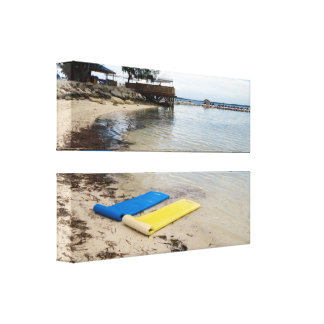 Two Floats Wrapped Canvas Canvas Print