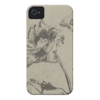 Two Flowers - French Ren. iPhone 4 Case-Mate Case