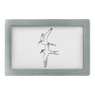 Two Flying Arctic Terns Belt Buckles