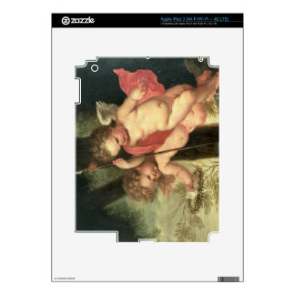 Two Flying Cherubs, holding the Crown of Thorns an iPad 3 Skin