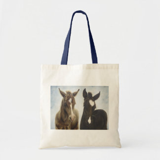 Two Foals Canvas Tote