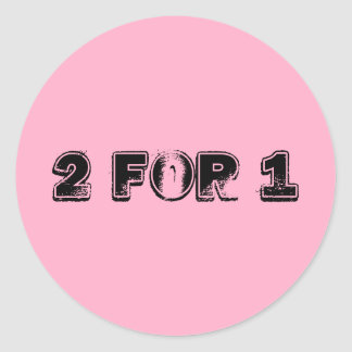 Two for One Classic Round Sticker