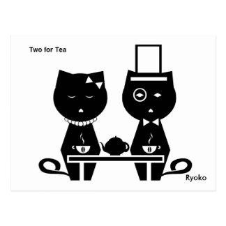 Two for Tea Postcard