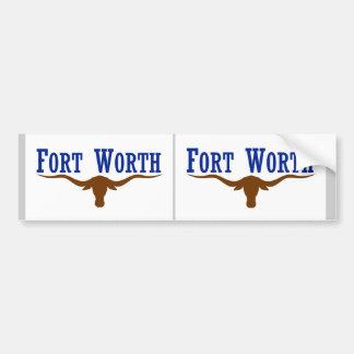 Two Fort Worth Flag Bumper Sticker