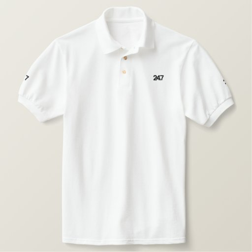 Two-four-seven Embroidered Polo Shirt