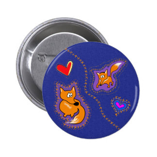 Two foxes button