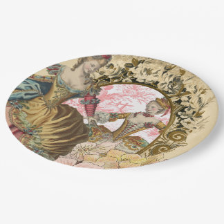 Two French Ladies and a Frame Paper Plate