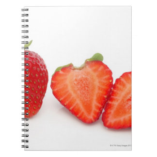 Two fresh, ripe, home grown, organic spiral notebooks