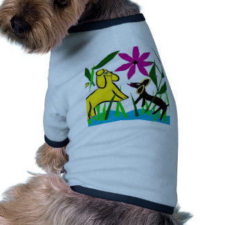 Two friendly dogs doggie tee shirt