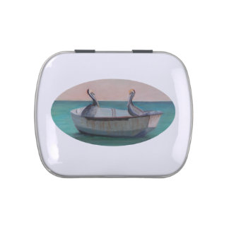 TWO FRIENDS IN A DINGHY Candy Tin