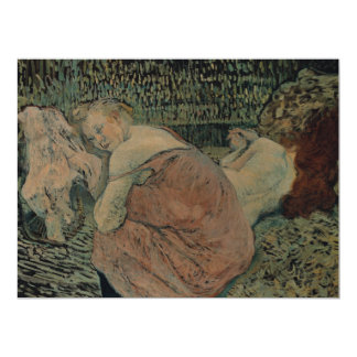 Two Friends Painting by Henri Toulouse-Lautrec 6.5x8.75 Paper Invitation Card