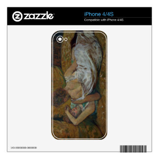 Two friends (pastel) iPhone 4 skins