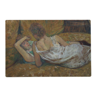 Two friends (pastel) laminated placemat