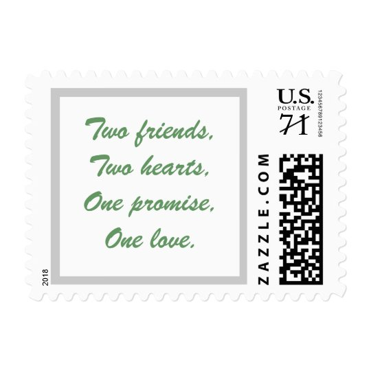Two friends,Two hearts,One promise,One love. Postage