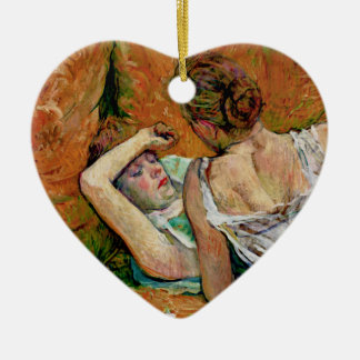 Two Friends Xmas Ornament by Toulouse-Lautrec